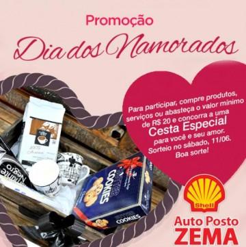 Participe da promo��o dos Namorados no Posto Zema Shell