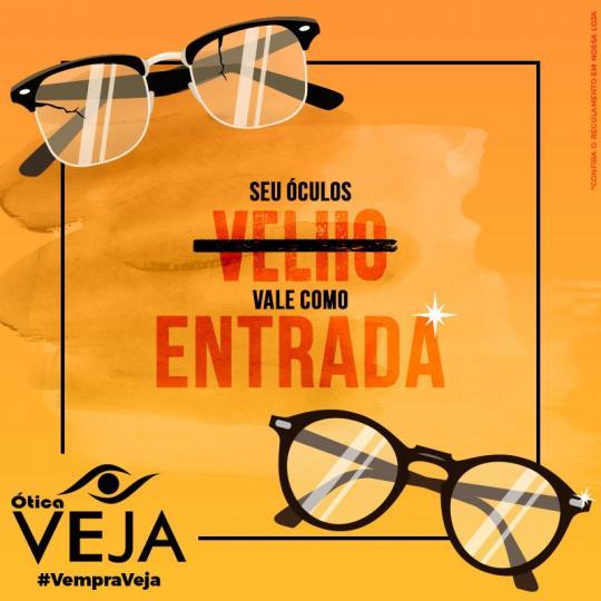 237baeec5 OSVALDO CRUZ - A Ótica Veja realiza uma grande promoção para você trocar  seus óculos velhos por outros novos.