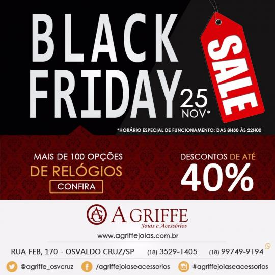 fca6b7d5040 Black Friday da A Griffe tem mais de 100 opções de relógios ...