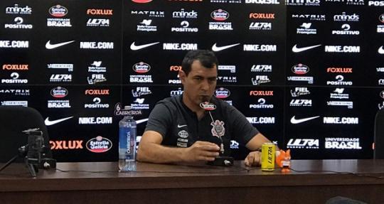 Fábio Carille deu entrevista coletiva nesta quinta-feira (Foto  Denise  Thomaz). CORINTHIANS ... 569902fae30bf