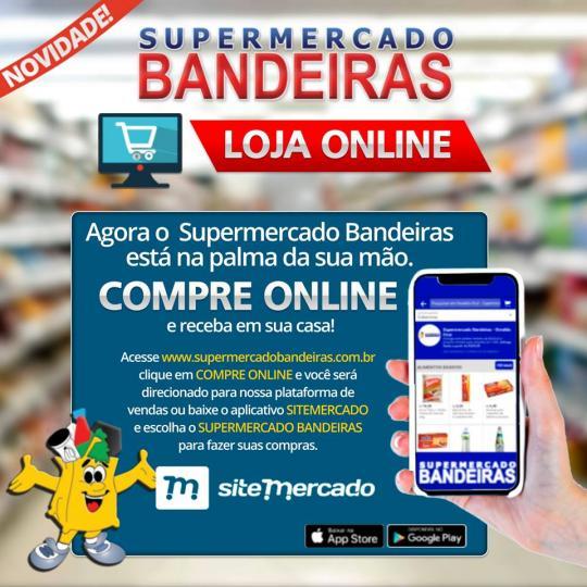 8bfefe95d Supermercado Bandeiras inova e lança compra pelo celular ou ...