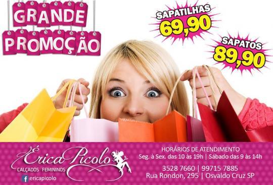 A loja Érica Picolo está com uma grande promoção em calçados femininos.  Renove seu look comprando lindas sapatilhas e sapatos com os melhores  preços. c3b5f384bf079