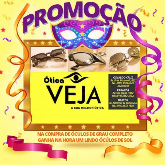 Confira a promoção de fevereiro da Ótica Veja - Destaque - Notícia ... 2f16aee4a6
