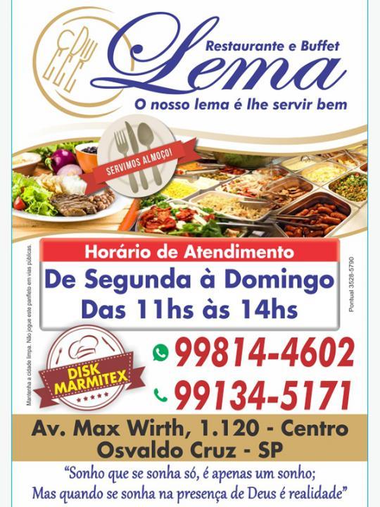 a9be72789 Concorra a um almoço do Restaurante e Buffet Lema - Acontece ...