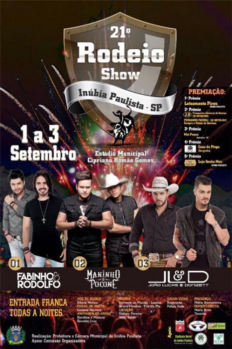 Circuito Rodeio 2018 : º rodeio show movimenta inúbia paulista a partir de sexta feira